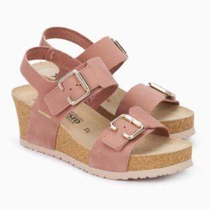 Mephisto Lissandra Wedge Cork Sandal Old Pink